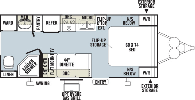 Floorplan of the Kodiak 200QB