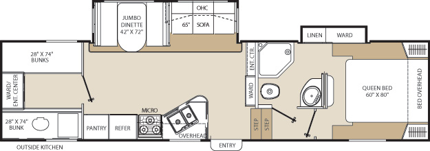 Floorplan of the Chaparral 279BHS
