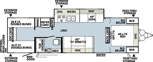 Floorplan of the Kodiak 283BHSL