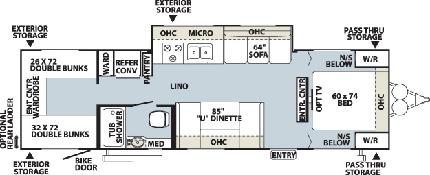 Floorplan of the Flagstaff 29QBSS