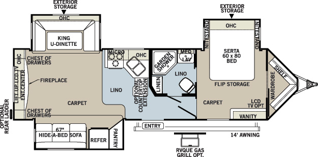 Floorplan of the Flagstaff 30WRLTS