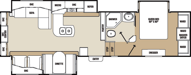Floorplan of the Chaparral 328RES