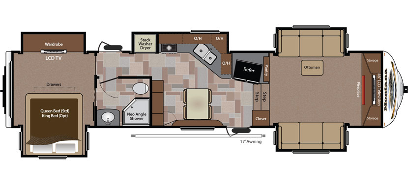 Floorplan of the Keystone Montana 3850FL