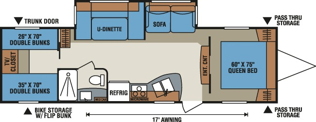 Floorplan of the KZ Spree 324BHS