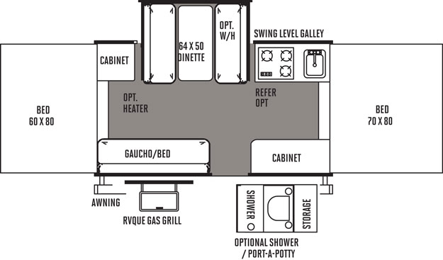 Floorplan of the 2318G