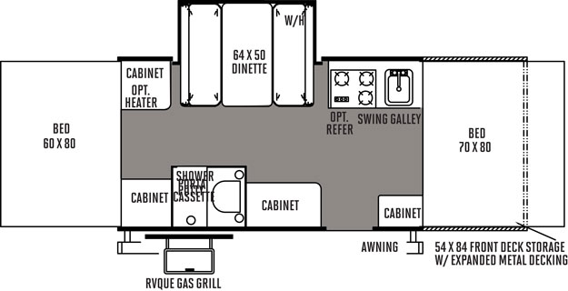 Floorplan of the 232XR