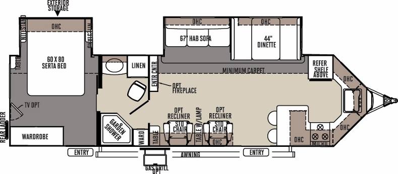 Floorplan of the Windjammer 3008W