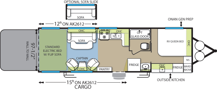 Floorplan of the AK2612