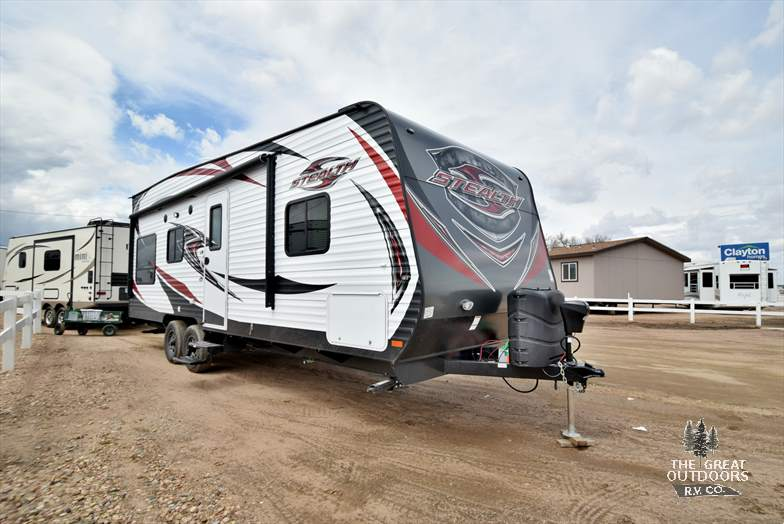 2017 FOREST RIVER STEALTH WA2313 Out Side Front Cap Large Awning Front Cap LP Tanks