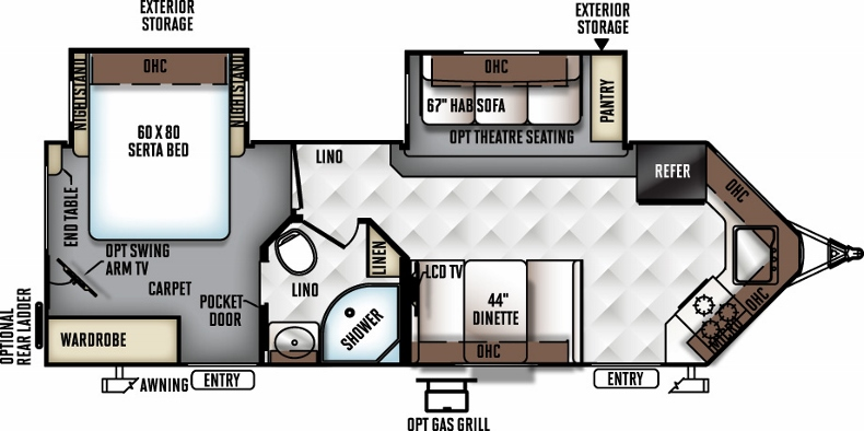 Floorplan of the 2618VS