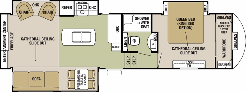 Floorplan of the Silverback 29IK