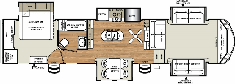 Floorplan of the 377FLIK