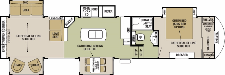 Floorplan of the Silverback 37RL