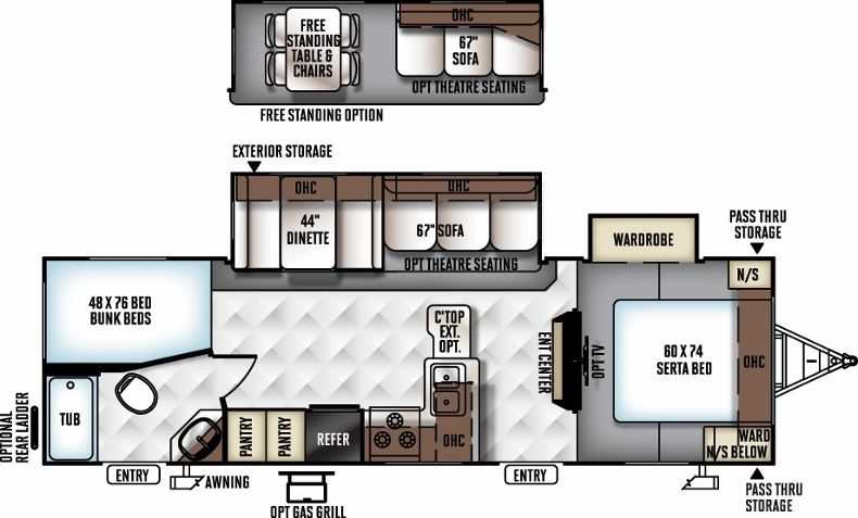 Floorplan of the 2702WS