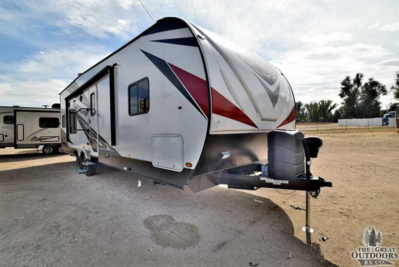 The Great Outdoors RV Co. ST225 2018 Forest River Stealth FQ2715G- Front passengers side exterior