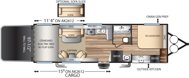 Floorplan of the AK2612G