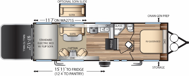 Floorplan of the WA2715G