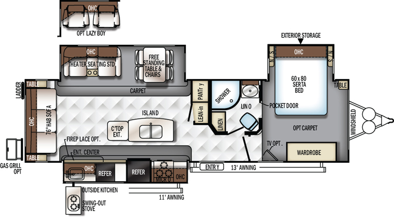 Floorplan of the 8328BS
