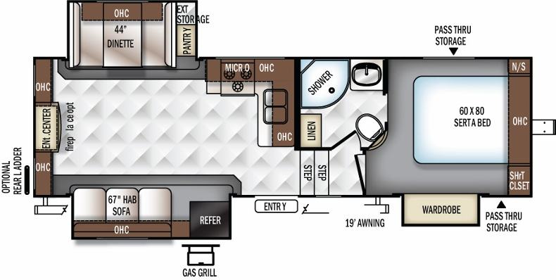 Floorplan of the 2650WS