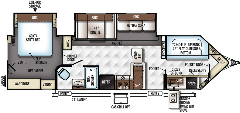 Floorplan of the 3006WK