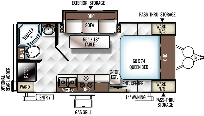 Floorplan of the 2109S