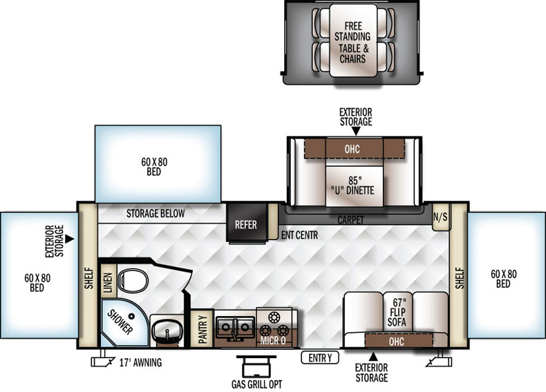 Floorplan of the Roo 233S