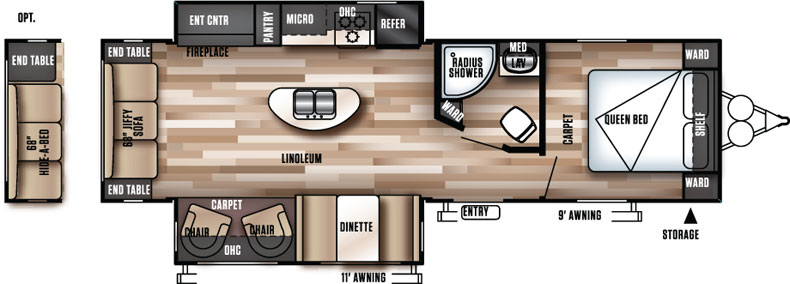 Floorplan of the 27REI