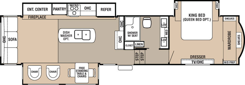 Floorplan of the Hathaway 36CK2