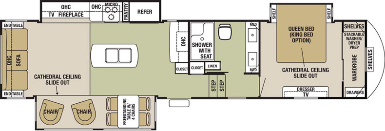 Floorplan of the Silverback 35IK