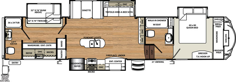 Floorplan of the 383RBLOK
