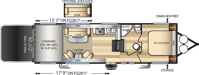 Floorplan of the FQ2817G