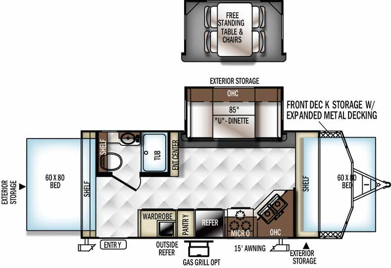 Floorplan of the Roo 21BD