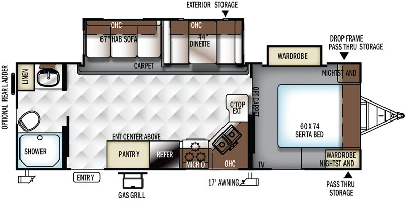 Floorplan of the 2606WS