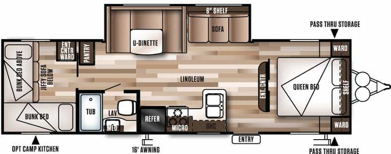 Floorplan of the 273QBXL