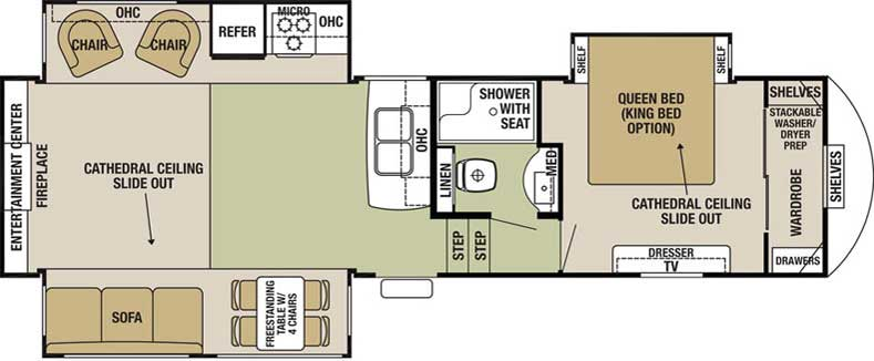 Floorplan of the Silverback 29RE