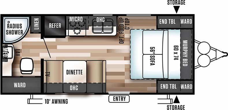Floorplan of the 171RBXL