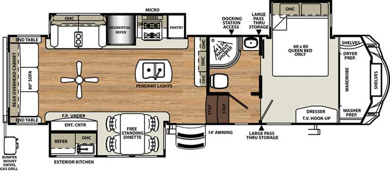 Floorplan of the 343RSOK