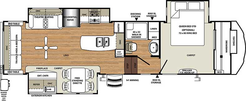 Floorplan of the 345RLOK
