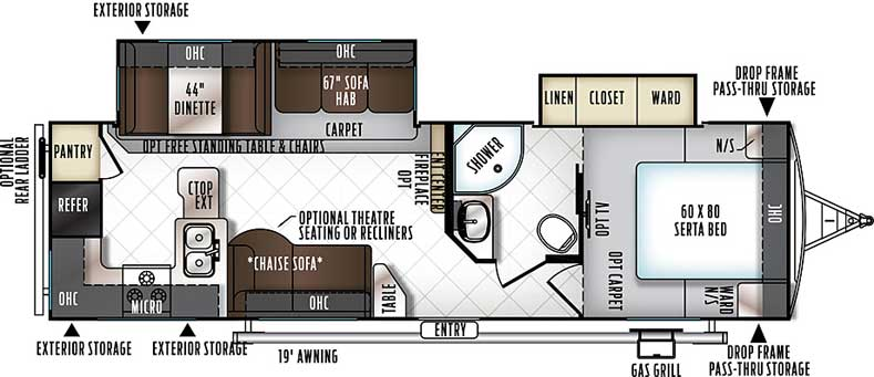 Floorplan of the 2902WS