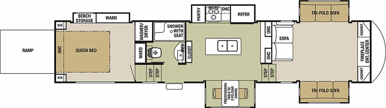 Floorplan of the Silverback 37RTH