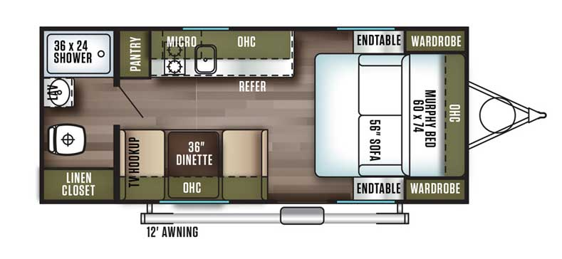 Floorplan of the FSX 187RB
