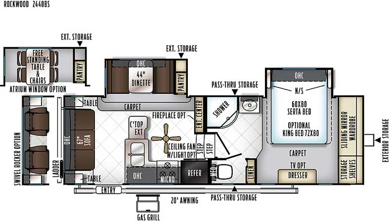 Floorplan of the 2440BS