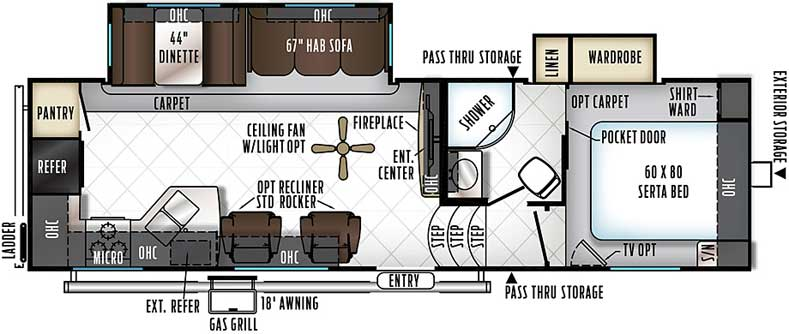 Floorplan of the 2880WS