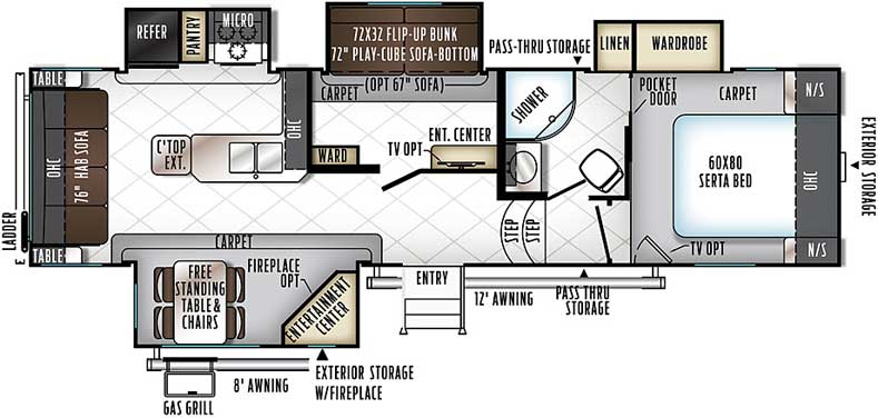 Floorplan of the 8295WS