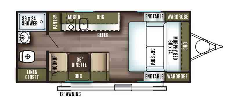 Floorplan of the FSX 167RB