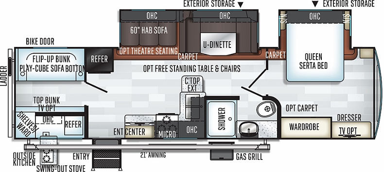 Floorplan of the 2911BS
