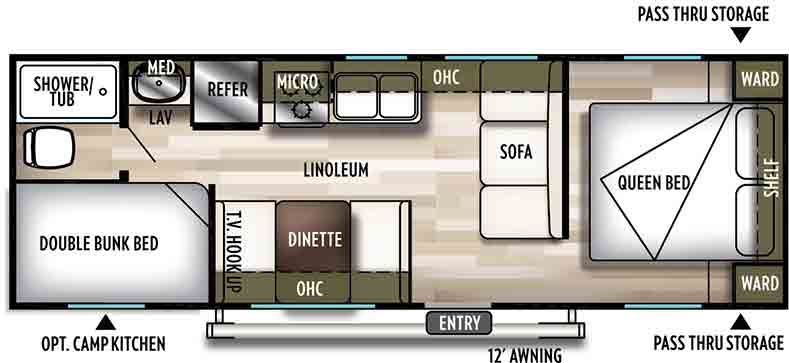 Floorplan of the 261BHXL