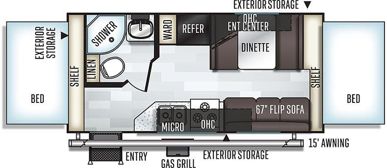 Floorplan of the 19 Roo