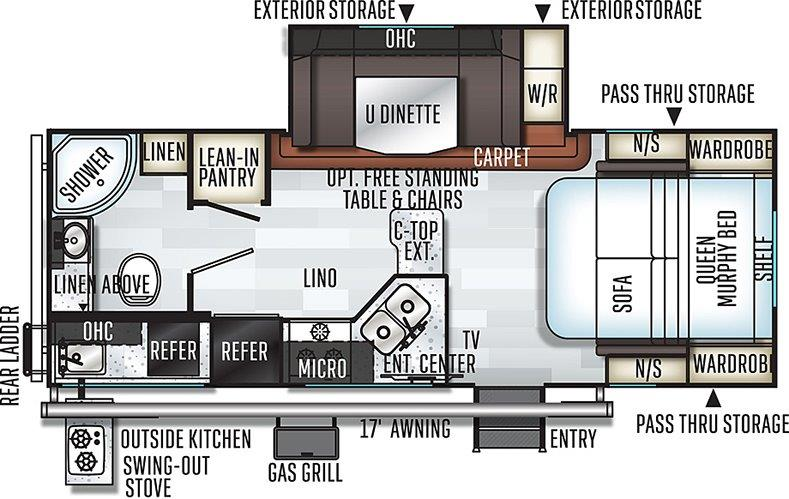 Floorplan of the 2507S