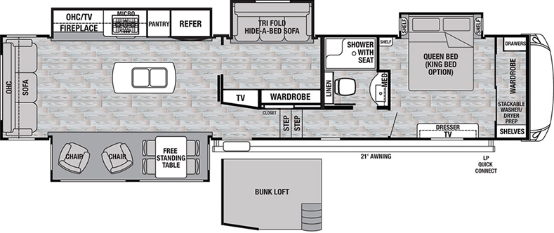 Floorplan of the Silverback 37MBH